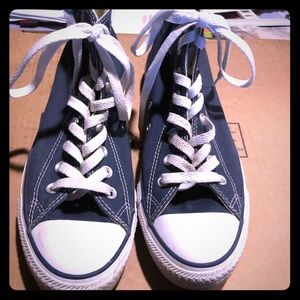 Converse Shoes - Fairly used navy blue converse tennis shoes.